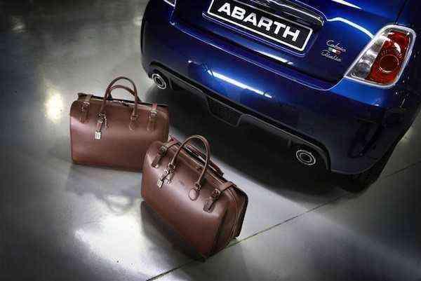 Abarth AB Accessoires Braun in Tribute to Abarth Taschensets von Edelmanufaktur Tramontano