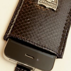 Glamour D. iPhone Python Hülle, schwarz