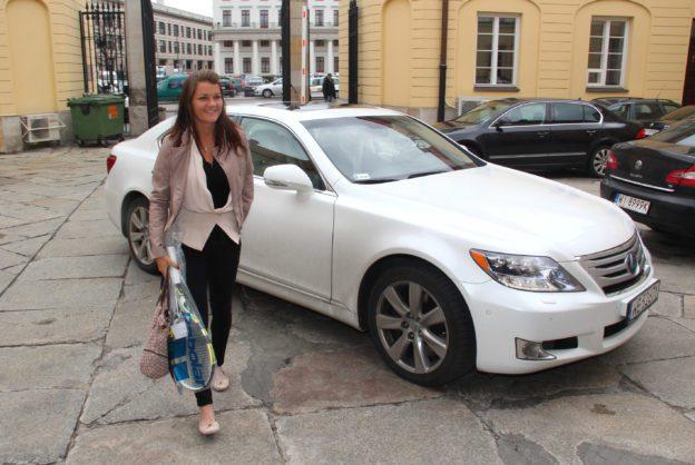 Angieszka Radwa?ska mit Lexus - Fanaticar