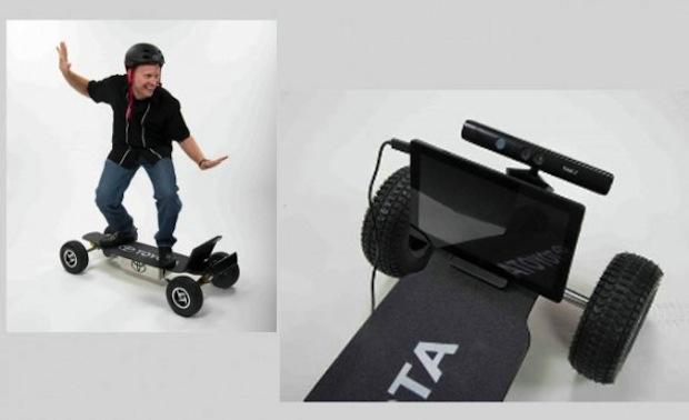 in Toyota: Skateboard mit Kinect-Steuerung