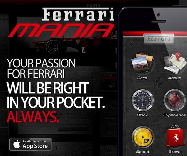 Die Ferrari MANIA App begeistert nicht nur Fans
