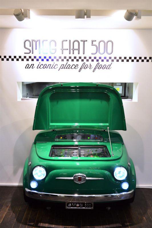 Fiat500 Kühlschrank mit SMEG