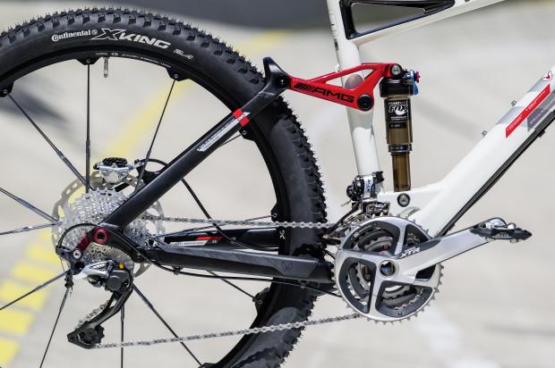 Schickes AMG-Bike mit stylischer Lackierung