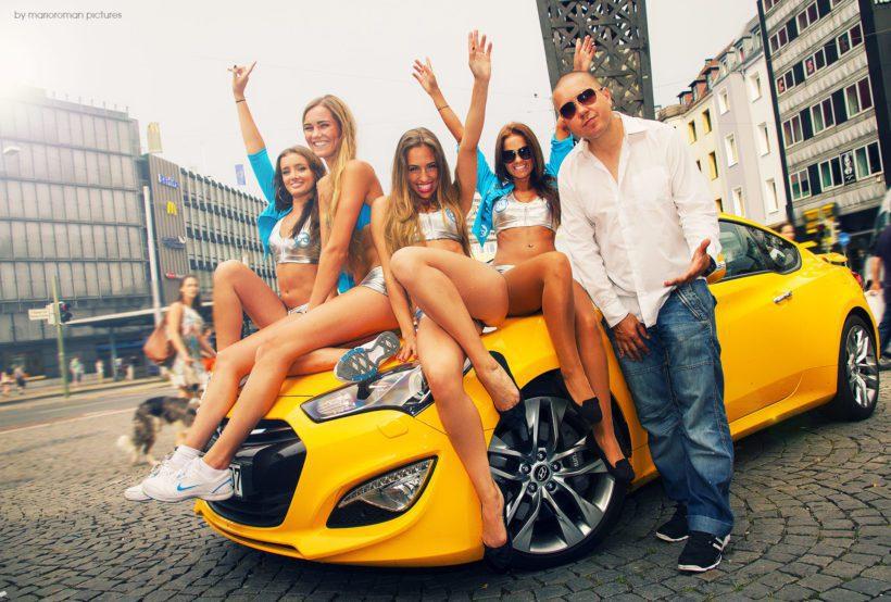 Dj Tomekk, Hyundai Genesis Coupe GT & PcFritz Girls - Fanaticar Magazin