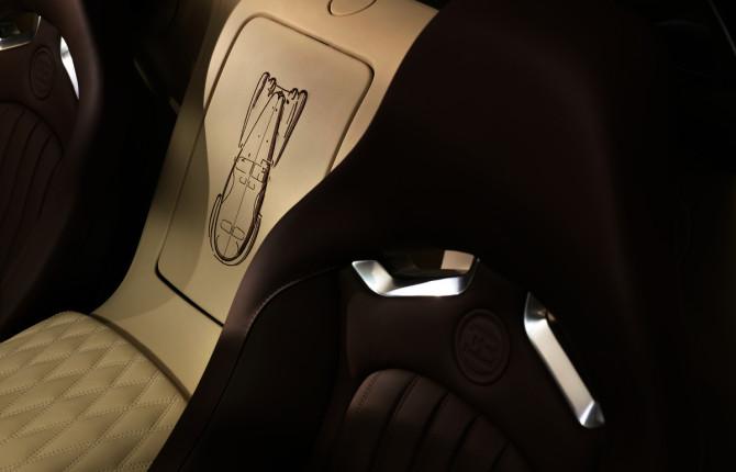 """016 Jean-Bugatti Legend Stitching Centerbox-670x430 in Bugatti präsentiert auf der IAA die Legende """"Jean Bugatti"""" als Sonderedition"""