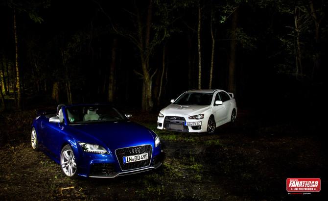 Audi-ttrs-wald-9909-fc-670x410 in Good Bitch... …Bad Bitch!!! Ein nicht so ganz ernst gemeinter Vergleich zwischen Audi TTRS Roadster und Mitsubishi Lancer Evolution X