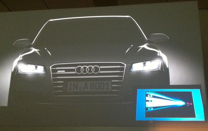 Audi-A8-Matrix-LED-670x424 in Fahrbericht Audi A8: Ob du richtig stehst, siehst du wenn das Licht ausgeht