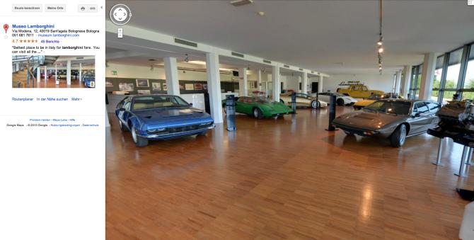 Lamborghini Museum - Google Maps - Fanaticar