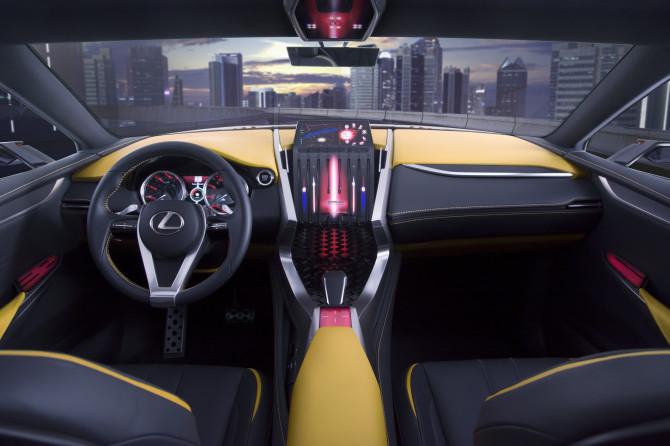 Crossover-Concept LF-NX Turbo ist auch im Interieur schick