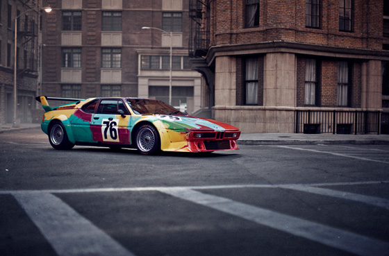 Das BMW Art Car von Andy Warhol, BMW M1 Gruppe 4 Rennversion, 1979, auf der Paris Photo Los Angeles in den Paramount Pictures Studios (04/2013)