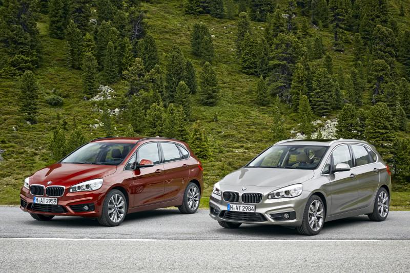 Der neue BMW 218d Active Tourer und der neue BMW 225i Active Tourer