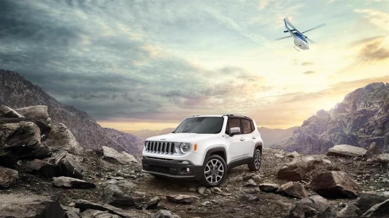 """Ein Jeep® Renegade (""""Abtrünniger"""") zieht sich in die Wildnis zurück und wartet auf den Ersten, der ihn dort abholt"""