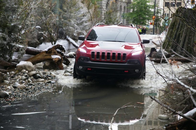 Jede Menge Spaß bescherte der Jeep Cherokee mitten in Vancouver