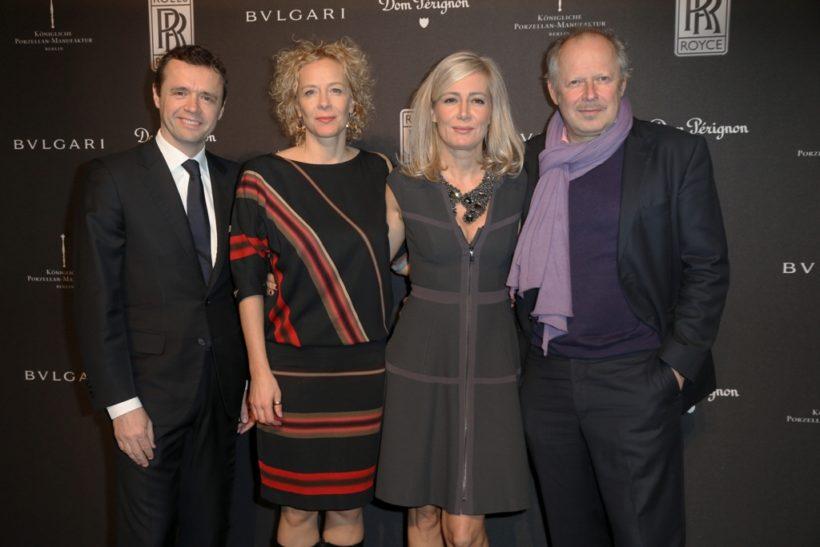 Fintan Knight, Sales & Marketing Direktor Rolls-Royce Motor Cars mit Katja Riemann und Judith und Axel Milberg