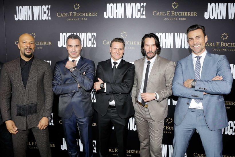 Common, Chad Stahelski, Sascha Moeri, Keanu Reeves, Daniel Bernhardt
