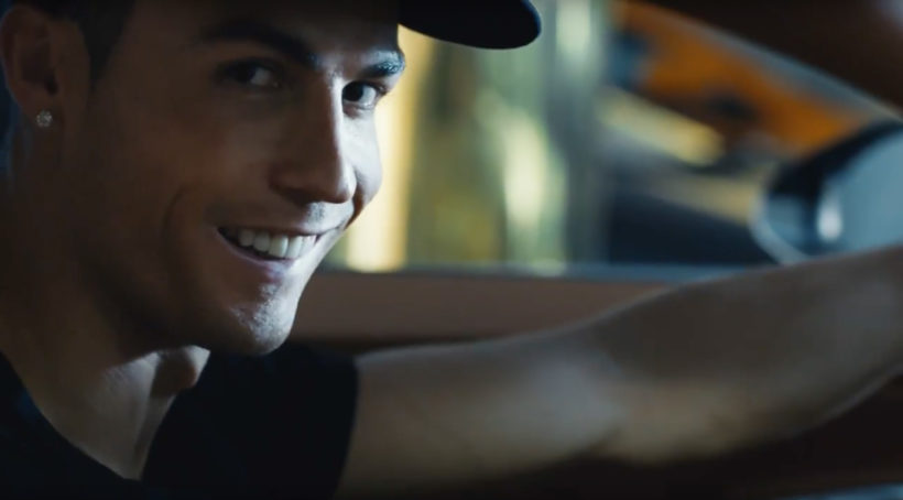 Christiano Ronaldo meets Bugatti Chiron