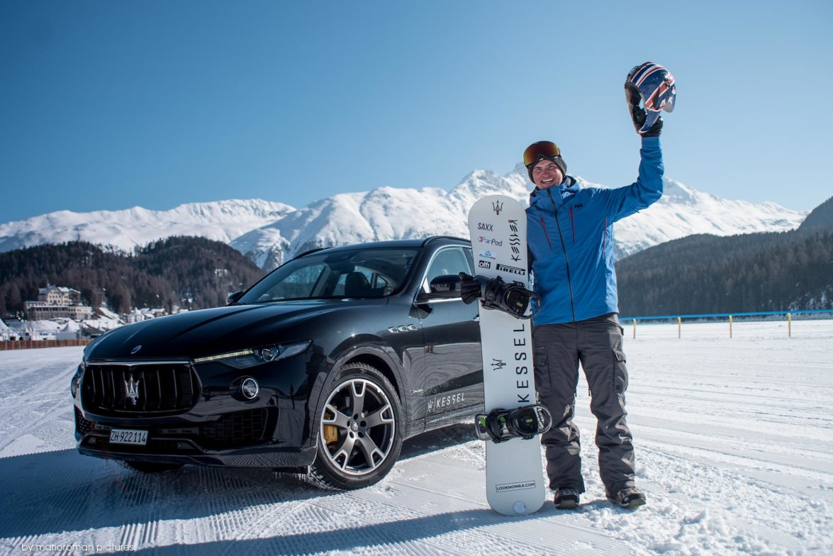 Jamie Borrow und der Maserati Levante