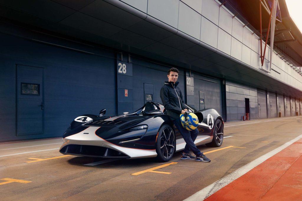 2021 Lando Norris meets McLaren Elva