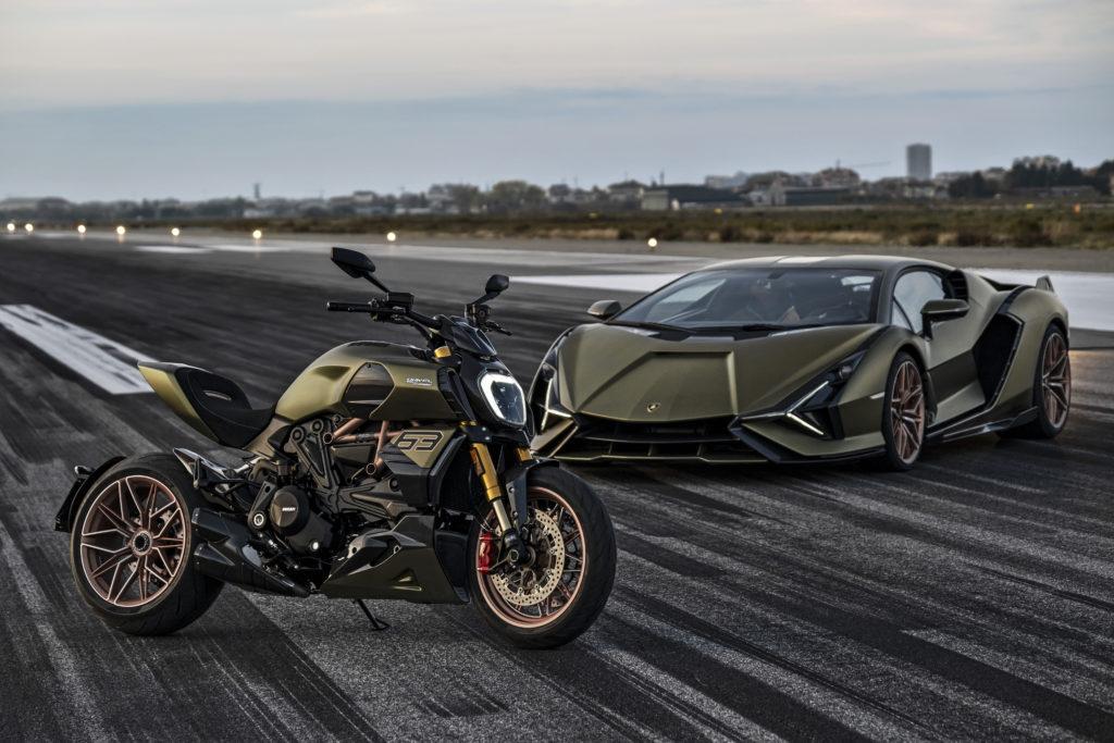 Ducati Diavel 1260 Lamborghini und Lamborghini Siàn FKP 37