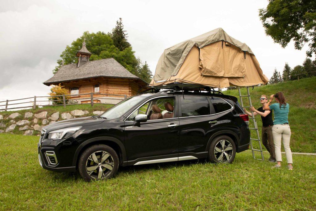 2021 Subaru Forester E-Boxer mit Horntools Dachzelt   Fanaticar Magazin